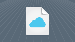 Cloud banking white paper icon